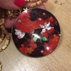 Jewelry - Vintage cloisonné pendant